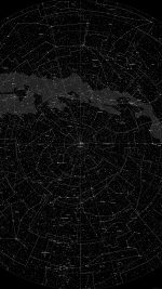 Space Star Map Pattern Dark
