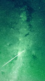 Star Night Space Green Galaxy Flare Nature