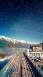 Star Shiny Lake Sky Space Boat Flare