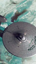 Starship Enterprise Blue Space Art Illust