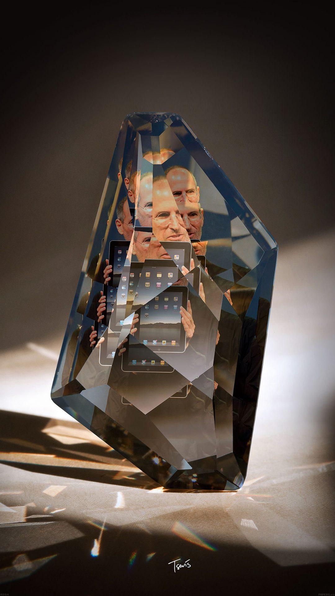 Steve Jobs Diamond Art Apple Ios7