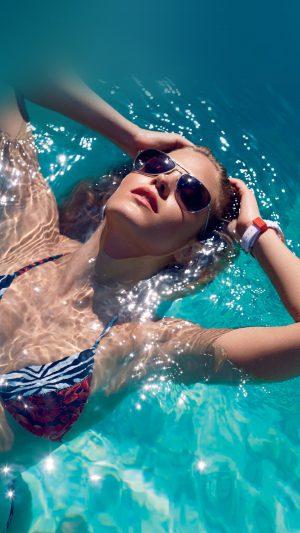 Swim Summer Bikini Model Water