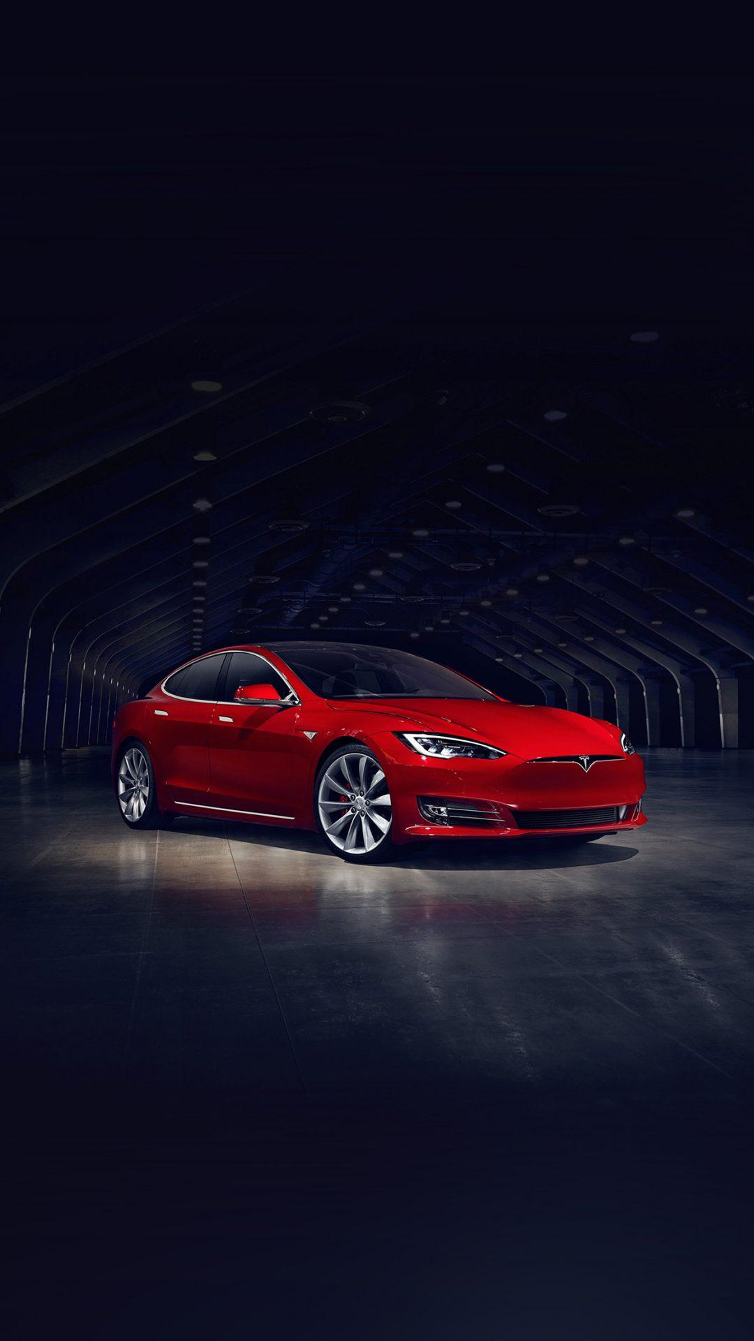 Tesla Model Red Car