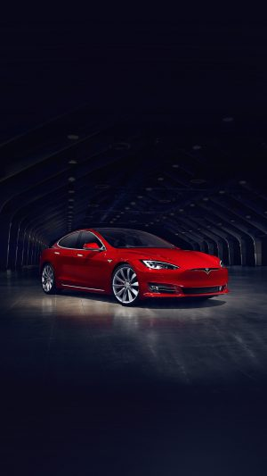 Tesla Model Red Car