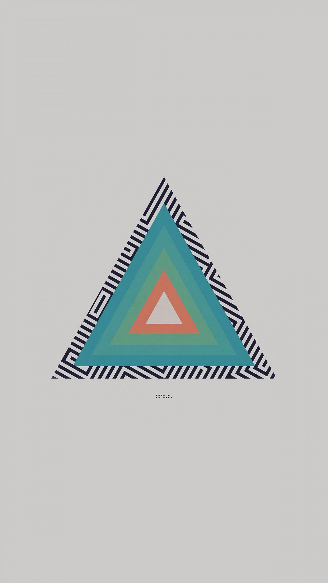 Tycho Triangle Abstract Art Illustration White