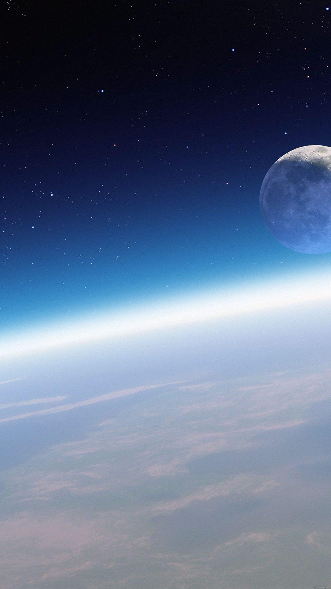 Wallpaper Earth Horizon In Space
