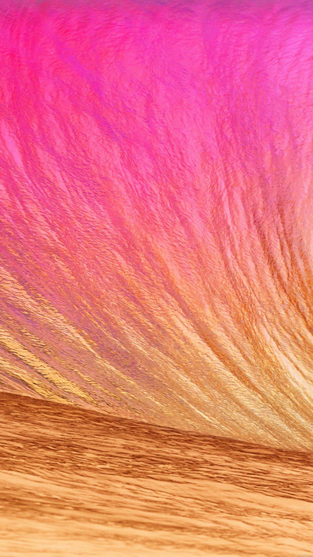 Wallpaper Gold Wave Apple Sea