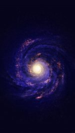 Wallpaper Space Galaxy Stars Milky Way Blue