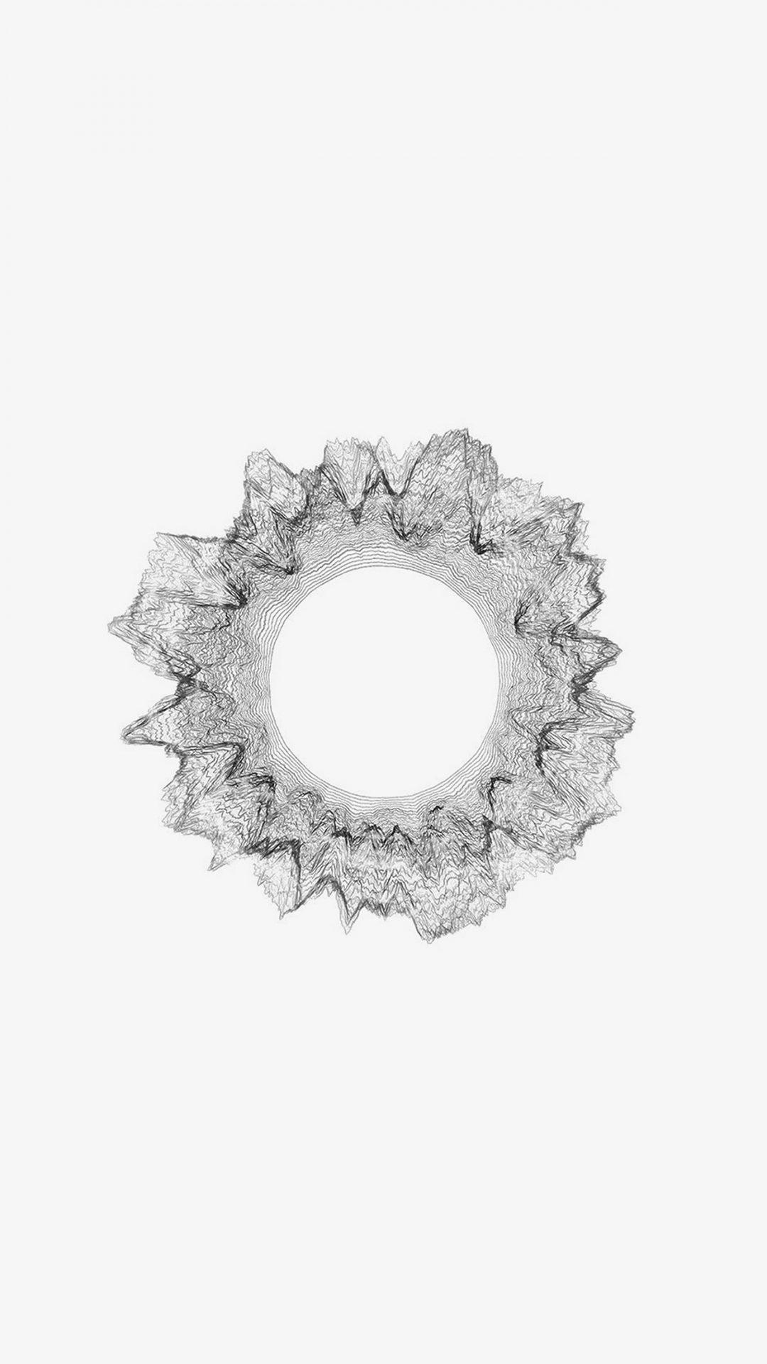 White Bw Circle Minimal Abstract Digital Art Pattern