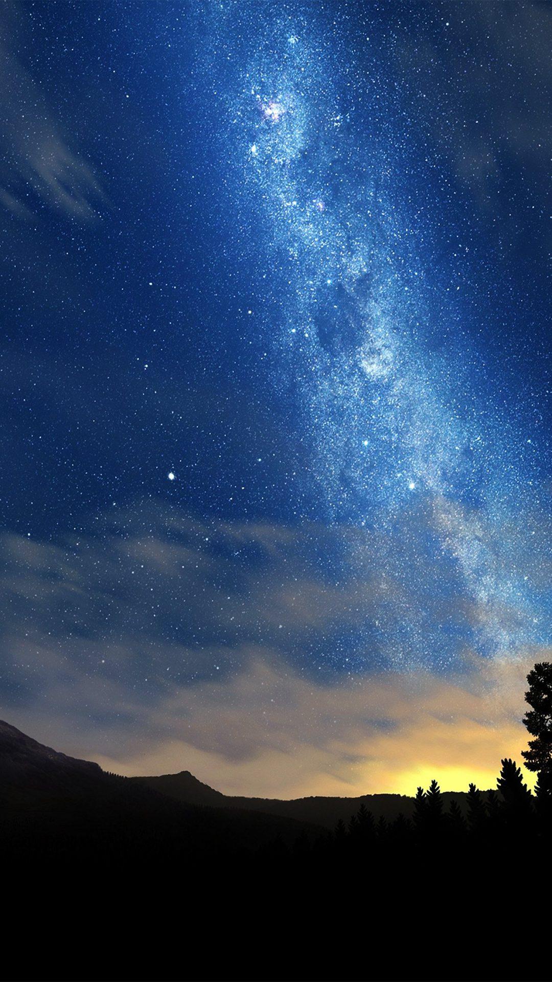 Wonderful Tonight Space Star Sunset Mountain