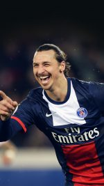 Paris' Swedish forward Zlatan Ibrahimovic celebrates after he scored a goal during a French L1 football match between Paris Saint-Germain (PSG) and Bordeaux (FCGB) on January 31, 2014 at the Parc des Princes stadium in Paris. AFP PHOTO / MARTIN BUREAU        (Photo credit should read MARTIN BUREAU/AFP/Getty Images)