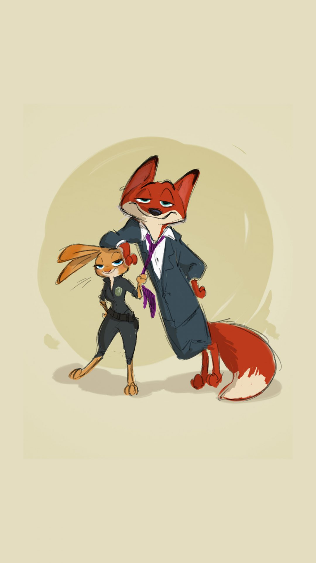ZOOTOPIA – Character Concept Art of Judy Hopps and Nick Wilde by Director Byron Howard. ©2015 Disney. All Rights Reserved.